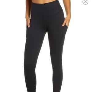 Zella XL Black High Waist Side Pockets Leggings